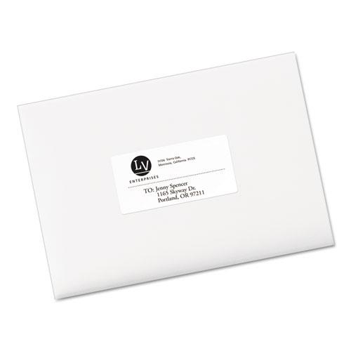 EcoFriendly Mailing Labels, Inkjet/Laser Printers, 2 x 4, White, 10/Sheet, 25 Sheets/Pack. Picture 2