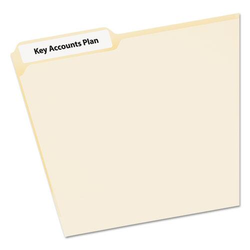 EcoFriendly Permanent File Folder Labels, 0.66 x 3.44, White, 30/Sheet, 50 Sheets/Pack. Picture 2