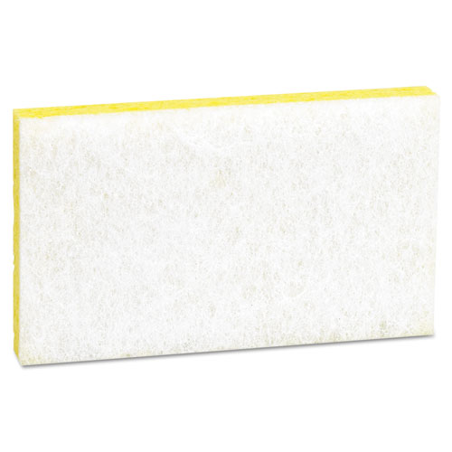 Light-Duty Scrubbing Sponge, #63, 3 1/2 x 5 5/8, Yellow/White. Picture 2
