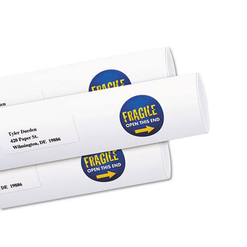 """Vibrant Inkjet Color-Print Labels w/ Sure Feed, 1 1/2"""" dia, White, 400/PK. Picture 2"""