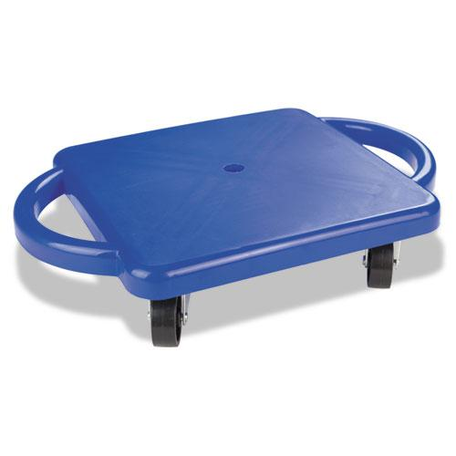 Scooter with Handles, Blue/Yellow, 4 Rubber Swivel Casters, Plastic, 12 x 12. Picture 1
