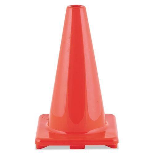 """Hi-Visibility Vinyl Cones, 18"""" Tall, Orange. Picture 1"""