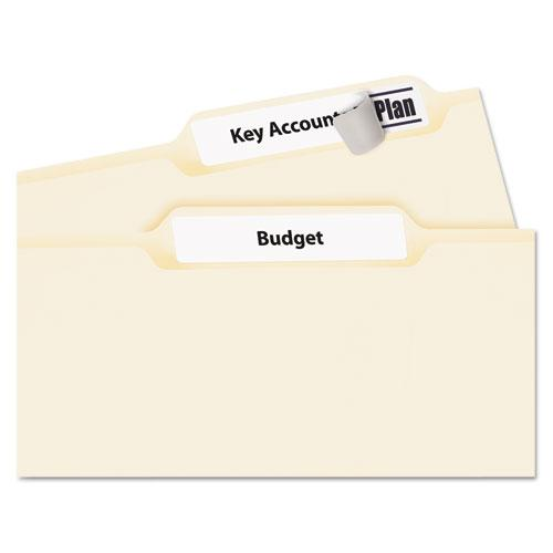 Permanent TrueBlock File Folder Labels with Sure Feed Technology, 0.66 x 3.44, White, 30/Sheet, 60 Sheets/Box. Picture 2