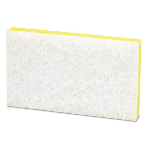 Light-Duty Scrubbing Sponge, #63, 3 1/2 x 5 5/8, Yellow/White. Picture 3