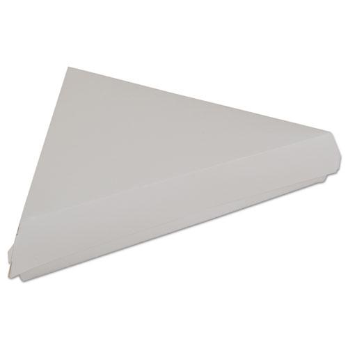 """Lock-Corner Pizza Boxes, For 8"""" Slices, 9.25 x 9 x 1.69, White, 400/Carton. Picture 1"""