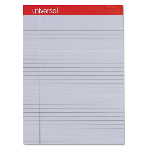 Colored Perforated Writing Pads, Wide/Legal Rule, 8.5 x 11, Orchid, 50 Sheets, Dozen. Picture 2