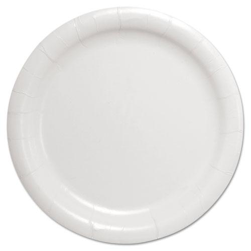 """Bare Eco-Forward Clay-Coated Paper Dinnerware, Plate, 9"""" Diameter, White. Picture 1"""
