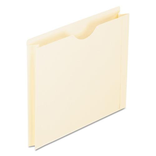 Manila Reinforced File Jackets, 2-Ply Straight Tab, Letter Size, Manila, 50/Box. Picture 1