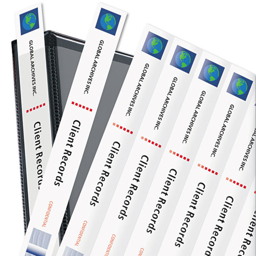 """Binder Spine Inserts, 1"""" Spine Width, 8 Inserts/Sheet, 5 Sheets/Pack. Picture 2"""