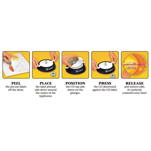 Inkjet Full-Face CD Labels, Matte White, 40/Pack. Picture 2