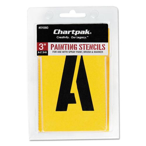 Painting Stencil Set, A-Z Set/0-9, Manila, 35/Set. Picture 1