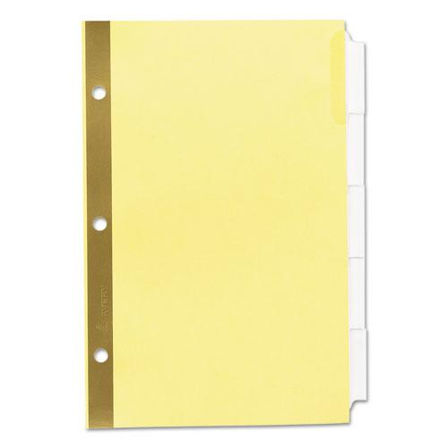 Insertable Standard Tab Dividers, 5-Tab, 8.5 x 5 1/2. Picture 4