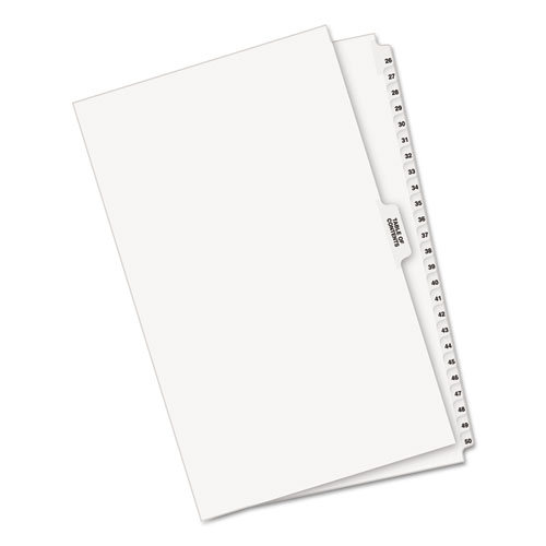 Preprinted Legal Exhibit Side Tab Index Dividers, Avery Style, 26-Tab, 26 to 50, 14 x 8.5, White, 1 Set. Picture 2