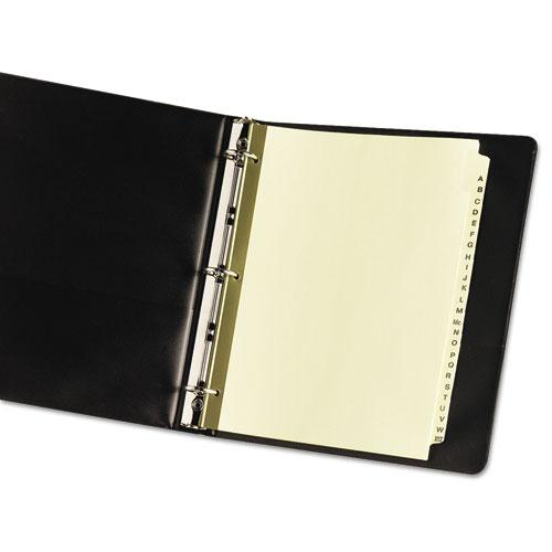 Preprinted Laminated Tab Dividers w/Gold Reinforced Binding Edge, 25-Tab, Letter. Picture 3