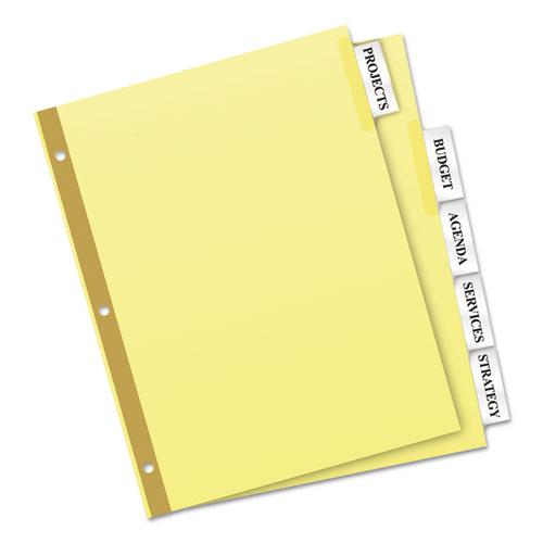 Insertable Big Tab Dividers, 5-Tab, Letter. Picture 3