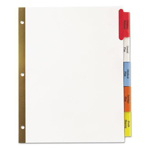 Insertable Big Tab Dividers, 5-Tab, Letter. Picture 7
