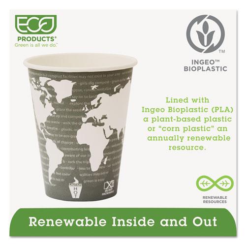 World Art Renewable Compostable Hot Cups, 12 oz., 50/PK, 20 PK/CT. Picture 2