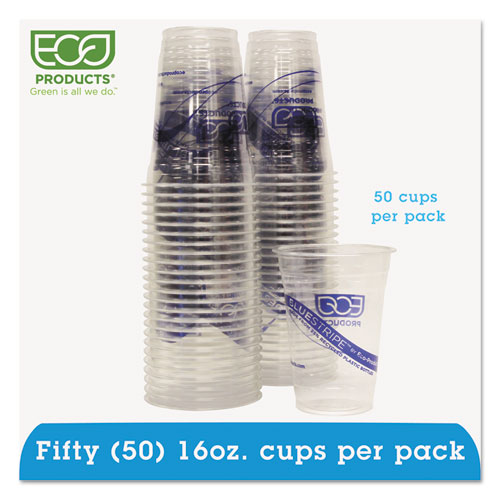 BlueStripe 25% Recycled Content Cold Cups Convenience Pack, 16 oz, 50/Pk. Picture 1