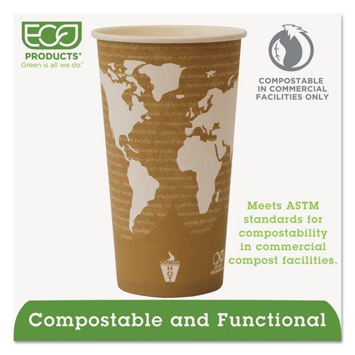 World Art Renewable Compostable Hot Cups, 20 oz., 50/PK, 20 PK/CT. Picture 4