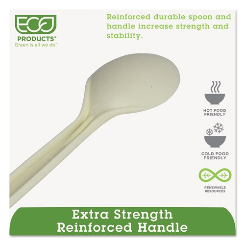 """Plant Starch Spoon - 7"""", 50/Pack, 20 Pack/Carton. Picture 4"""