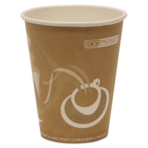 Evolution World 24% Recycled Content Hot Cups - 8oz., 50/PK, 20 PK/CT. Picture 2