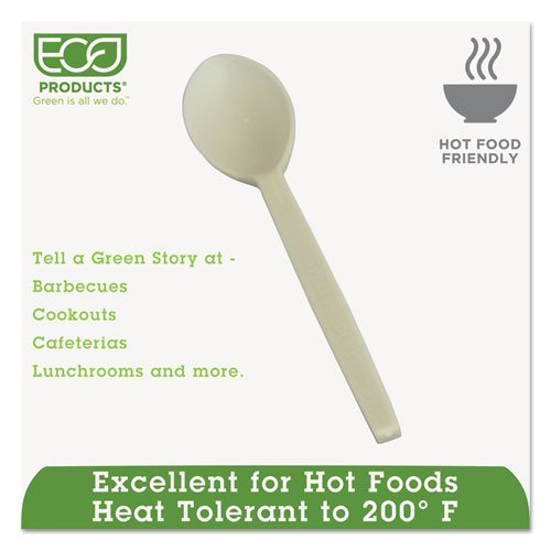 """Plant Starch Spoon - 7"""", 50/Pack, 20 Pack/Carton. Picture 5"""