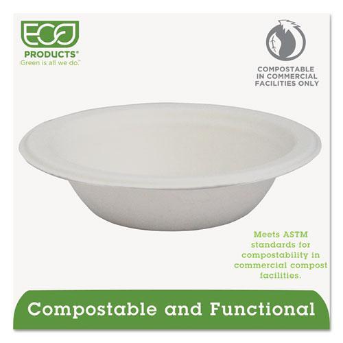 Renewable & Compostable Sugarcane Bowls - 12oz., 50/PK, 20 PK/CT. Picture 2