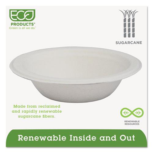 Renewable & Compostable Sugarcane Bowls - 12oz., 50/PK, 20 PK/CT. Picture 3