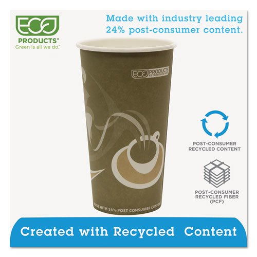 Evolution World 24% Recycled Content Hot Cups - 20oz., 50/PK, 20 PK/CT. Picture 2