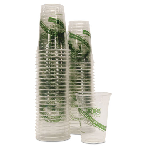 GreenStripe Renewable/Compostable Cold Cups Conv Pack, 16oz, 50/PK, 10 PK/CT. Picture 2