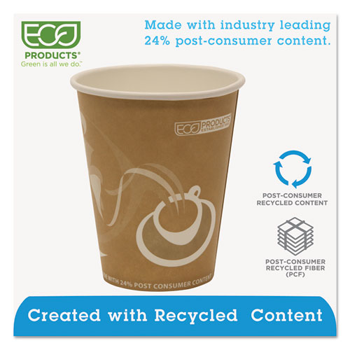 Evolution World 24% Recycled Content Hot Cups - 8oz., 50/PK, 20 PK/CT. Picture 3