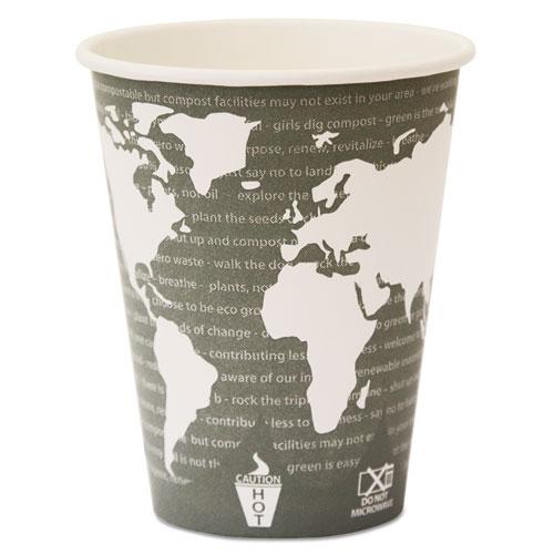 World Art Renewable Compostable Hot Cups, 12 oz., 50/PK, 20 PK/CT. Picture 5