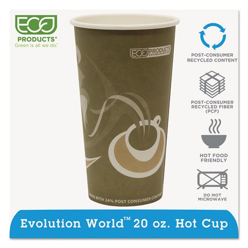 Evolution World 24% Recycled Content Hot Cups - 20oz., 50/PK, 20 PK/CT. Picture 1