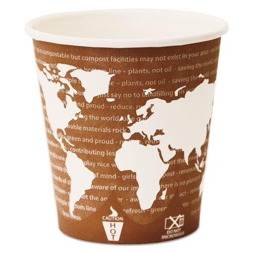 World Art Renewable Compostable Hot Cups, 10 oz., 50/PK, 20 PK/CT. Picture 5