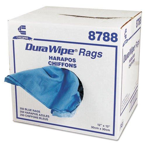 DuraWipe General Purpose Towels, 12 x 12, Blue, 250/Carton. Picture 1
