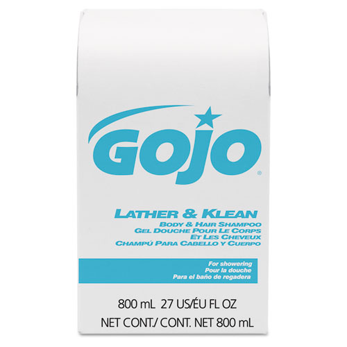 Lather & Klean Body & Hair Shampoo Refill, Pleasantly Scented, 800 ml, 12/Carton. Picture 2