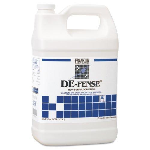 DE-FENSE Non-Buff Floor Finish, Liquid, 1 gal. Bottle. Picture 1