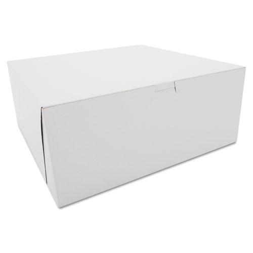 Tuck-Top Bakery Boxes, 12 x 12 x 5, White, 100/Carton. Picture 1