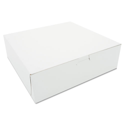 Tuck-Top Bakery Boxes, 10 x 10 x 3, White, 200/Carton. Picture 1