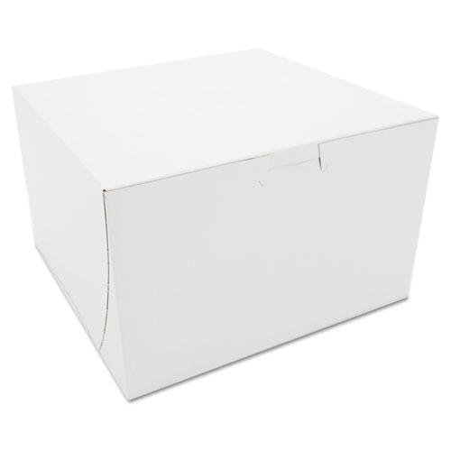 Tuck-Top Bakery Boxes, 8 x 8 x 5, White, 100/Carton. Picture 1