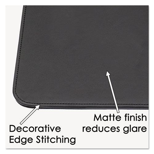 Sagamore Desk Pad w/Decorative Stitching, 36 x 20, Black. Picture 2