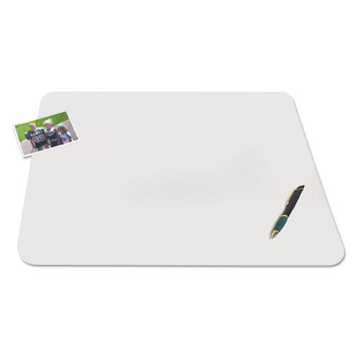 KrystalView Desk Pad with Antimicrobial Protection, 24 x 19, Matte Finish, Clear. Picture 3