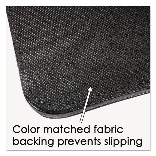 Sagamore Desk Pad w/Decorative Stitching, 36 x 20, Black. Picture 3