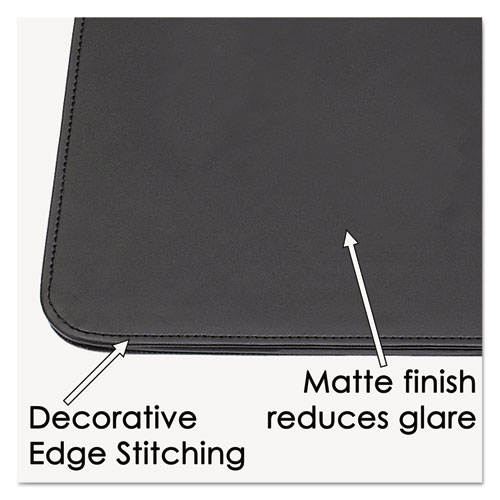 Sagamore Desk Pad w/Decorative Stitching, 38 x 24, Black. Picture 3