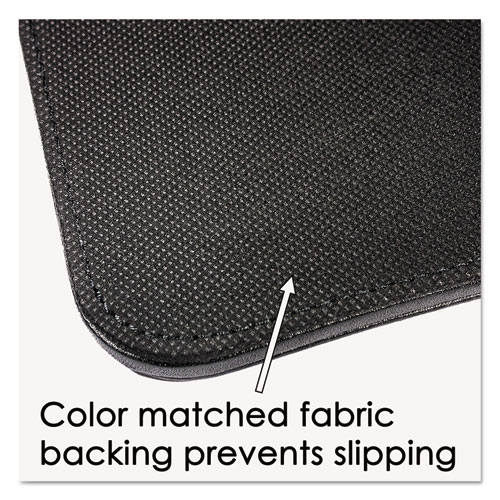 Sagamore Desk Pad w/Decorative Stitching, 38 x 24, Black. Picture 5
