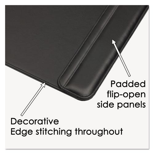 Sagamore Desk Pad w/Flip-Open Side Panels, 38 x 24, Black. Picture 2
