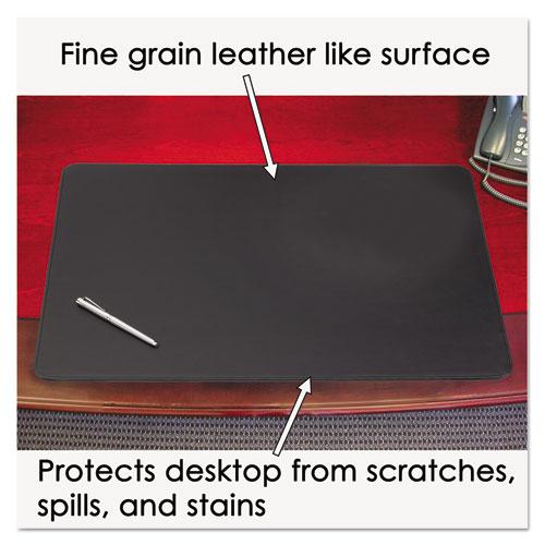 Sagamore Desk Pad w/Decorative Stitching, 24 x 19, Black. Picture 4