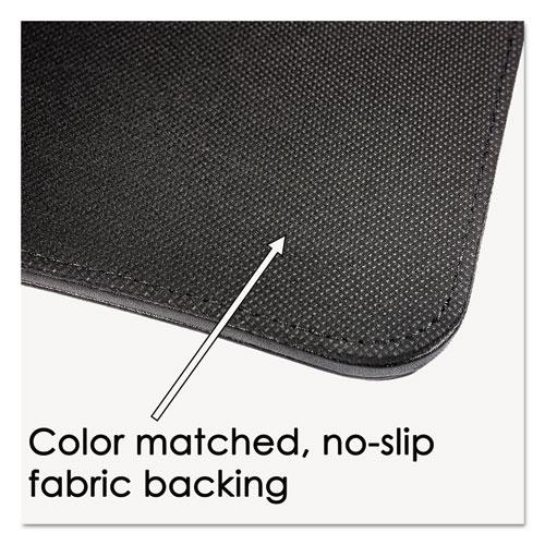 Sagamore Desk Pad w/Flip-Open Side Panels, 38 x 24, Black. Picture 3