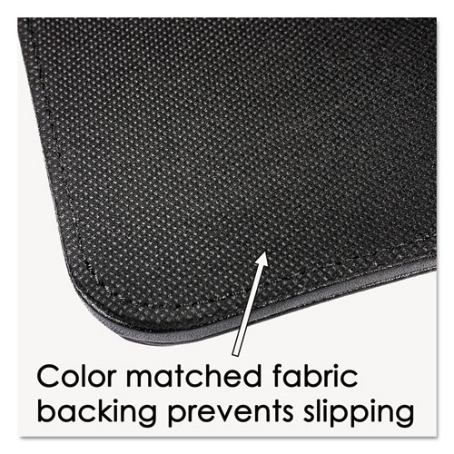 Sagamore Desk Pad w/Decorative Stitching, 24 x 19, Black. Picture 5