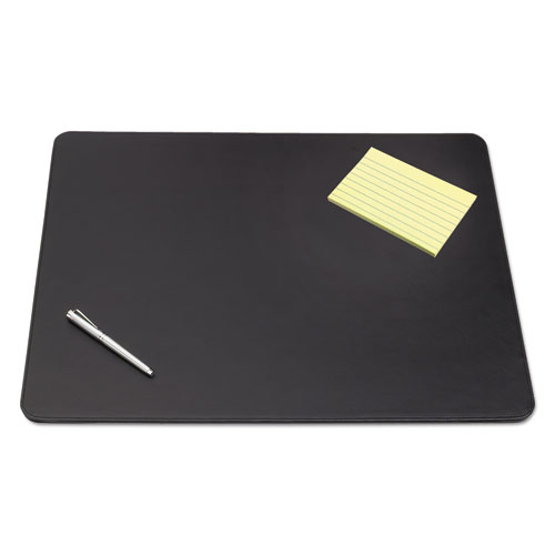 Sagamore Desk Pad w/Decorative Stitching, 38 x 24, Black. Picture 1
